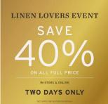 Adairs Linen Lovers Event!!